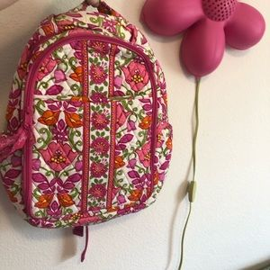 Vera Bradley backpack lined large school floral